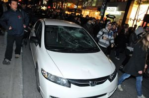 Above: Vandalism during Montreal student strike (Toronto Sun, 5/16/2012)